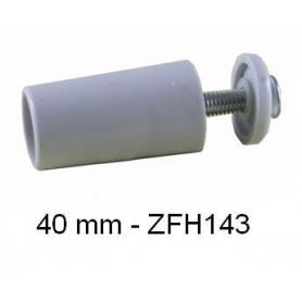 Butée d'arrêt ronde 40mm Grise