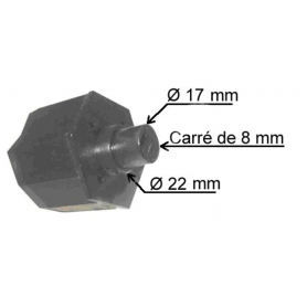 Embout de tube Hexa de 50 mm