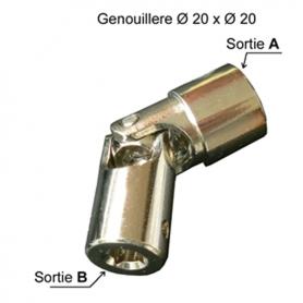 Genouillère acier sortie carré de 10 entrée Ø12