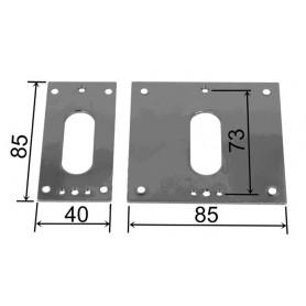 Plaque embase - H 85 mm x L 85 mm