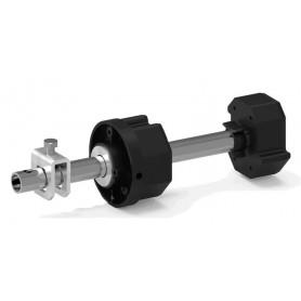 Tandem réglable pour tube Octo60, Lg 220 mm