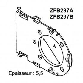 Tiroir pour motorisation de coffre PLASTIVAL de 210 et tube ZF 45