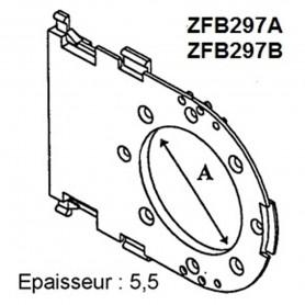 Tiroir pour motorisation de coffre PLASTIVAL de 210 et tube ZF 64