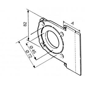 Support de moteur pour coffre Modulo de 125 ou 150
