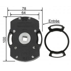 Treuil ACE 1/11 avec fin de course - Entrée carré de 8 mm - sortie carré de 10 mm