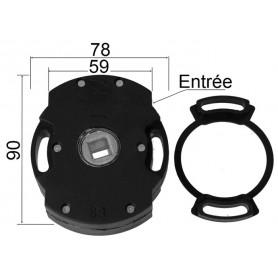 Treuil ACE 1/8 avec fin de course - entrée carré de 8 mm – sortie carré de 10 mm