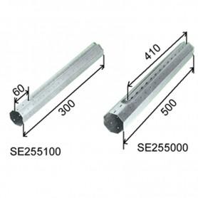 Tube télescopique 500mm en acier zingué pour tube OCTO 60mm