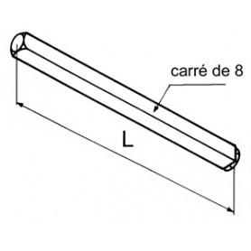 Axe hors joue carré de 8 mm
