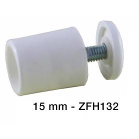 Butée d'arrêt ronde 15mm Blanche