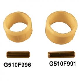 Bague et goupille de fixation pour tringle Ø15mm extérieur