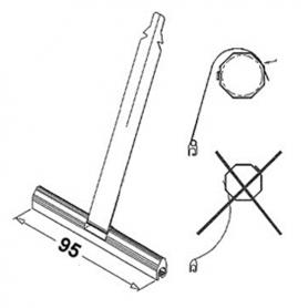 Attaches fendues pour mini lames Pour lame de 8 mm Lg 140 mm