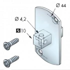 Support carré pour moteur SIMU T5