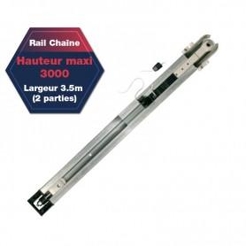 Rail chaîne pour moteurs DEXXO PRO Hauteur maxi 3000 (3.5m 2 parties)