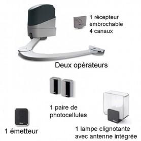 Kit NICE POP pour portail battant 2 x 2 ml maxi