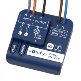 Micro-récepteur SOMFY IZYMO io ON/OFF pour lumière