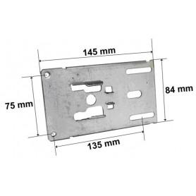 Plaque support acier pour roulement Ø 42 mm
