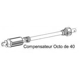 Compensateurs pour tube octo de 40 - Tablier maxi 10 kg, tension maxi 18 tours
