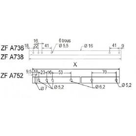 Axe compensateur 1045 mm pour tube ZF80