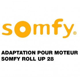 Adaptation pour moteur SOMFY ROLL UP 28