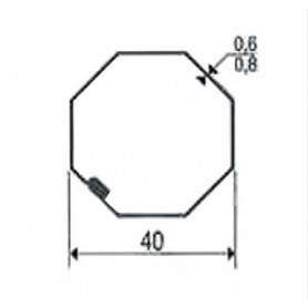 Adaptations Tube octo de 40 pour Moteurs SOMFY / filaire SIMU Ø 40 mm