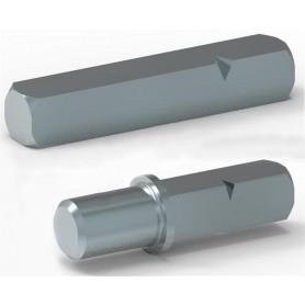 Axes d'entraînement carré de 8 mm