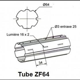 Tube ZURFLUH de Ø 64 mm x 0.8 | Longueur 1000mm