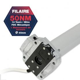 Moteur Gaposa filaire Serie 50 - 50 NM - ⌀45mm - Commande de secours intégré