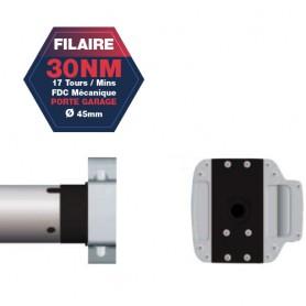 Moteur Gaposa filaire Serie 50 - 30 NM - diamètre 45mm - commande secour intégré CSI - pour porte Garage