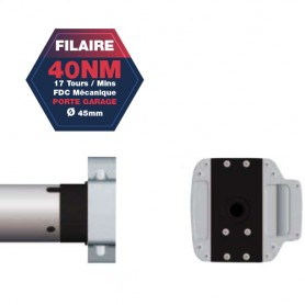 Moteur Gaposa filaire Serie 50 - 40 NM - diamètre 45mm - commande secour intégré CSI - pour porte Garage
