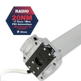 Moteur Gaposa radio Serie 50 - 20 NM - diamètre 45mm - commandes de secours intégrés