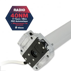 Moteur Gaposa radio Serie 50 - 40 NM - diamètre 45mm - commandes de secours intégrés