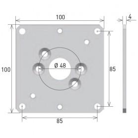 Support pour moteur Gaposa plaque 100x100
