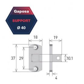 Support pour moteur Gaposa pour série 40