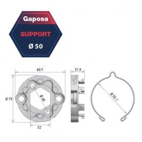 Support universel - Max 80Nm - pour moteur Gaposa pour série 50 et série 60