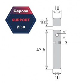 Support pour moteur Gaposa pour série 50