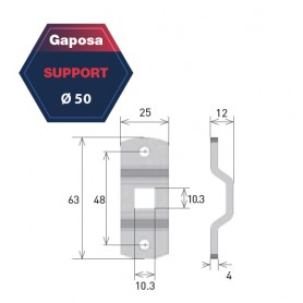 Support pour moteur Gapposa pour série 50 AXQ/AXQ4