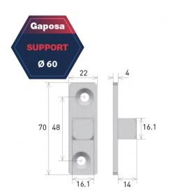 Support pour moteur Gaposa pour série 50 AXQ/AXQ4