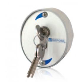Commande Gaposa externe en aluminium avec clé de sécurité.