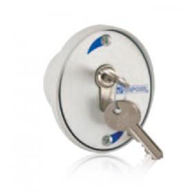 """Sélecteur de commande en plastique à encastrement """"Ko"""" avec clé de sécurité (cylindre Européen DIN 18252)"""