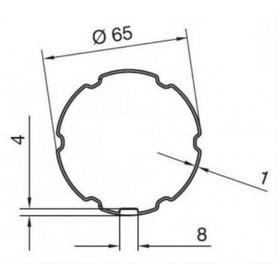 Adaptations pour Moteurs NICE type ERA pour Tube ECKERMANN 65 - schéma