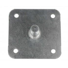 Support à visser acier galva pion Ø 12 mm