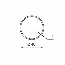 Adaptations pour Moteurs NICE type ERA - Tube ogive de 40 x 4 mm