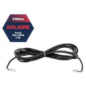 Extension câble 5 ml SOMFY pour branchement panneau solaire