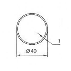Adaptations Tube ronds de 40  ep 1mm pour Moteurs SOMFY / filaire SIMU Ø 40 mm