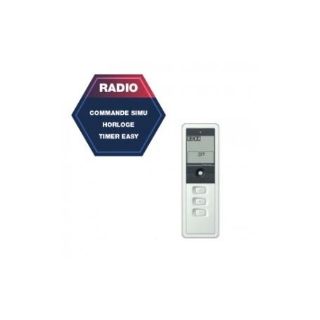 Télécommande radio SIMU timer Easy 1 canal - blanc