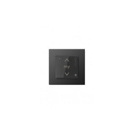 Commande SOMFY Smoove Sensitif io noir mat avec cadre