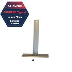 Attache A de tablier aluminium plastifié Lg 130 mm lame fine
