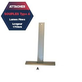 Attache A de tablier aluminium plastifié Lg 170 mm lame fine