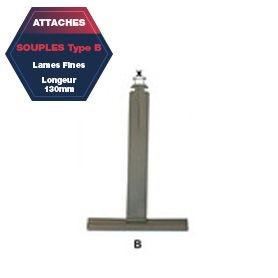 Attache B de tablier aluminium plastifié Lg 130 mm lame fine