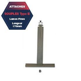 Attache B de tablier aluminium plastifié Lg 170 mm lame fine